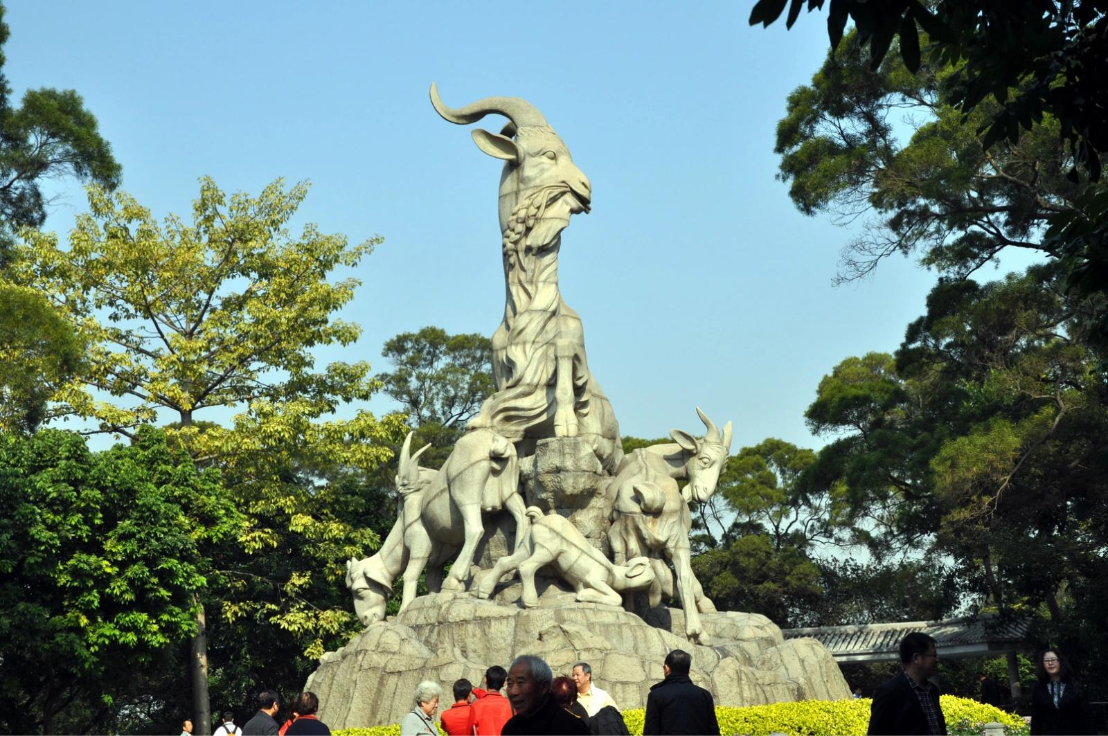 广州五羊雕像_飞欢骥喜