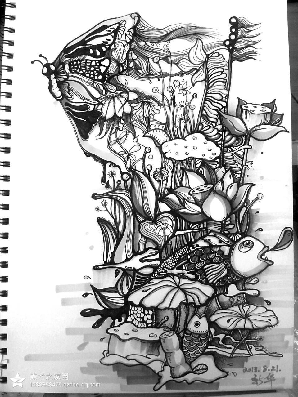 手绘插画的形式多样