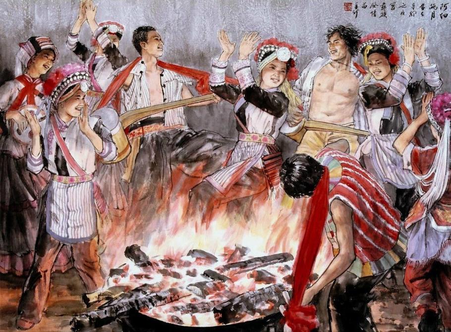 中国五十六个民族服饰画珍藏分享