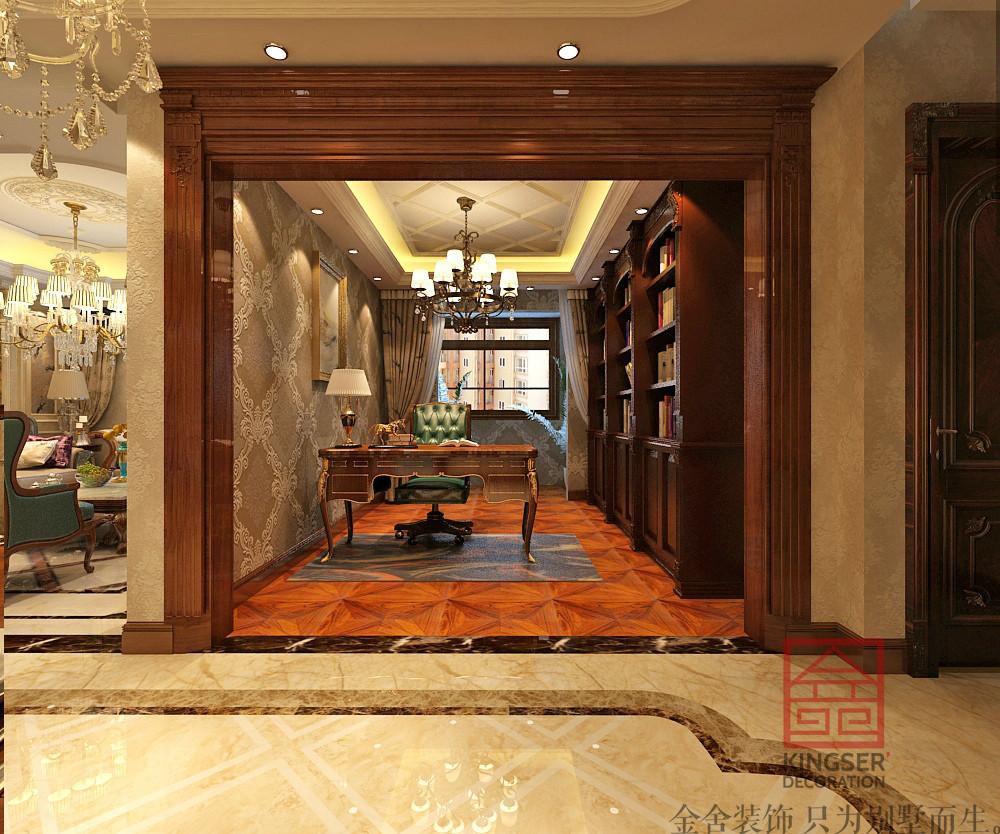 【白金汉府装修】136㎡-三室两厅-欧式风格-金舍装饰