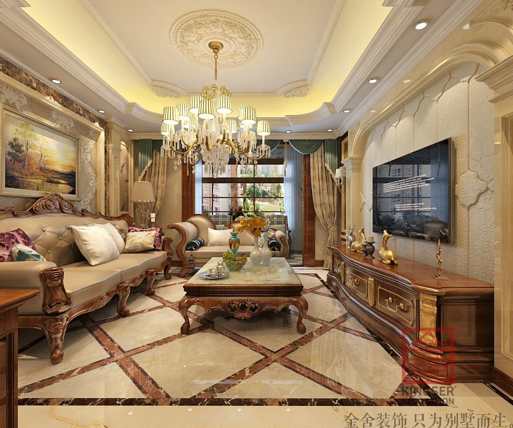 此设计方案定位为欧式风格,业主对居室装修的要求清晰明了,即功能