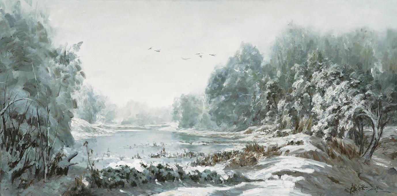 陆琦教授油画风景作品欣赏