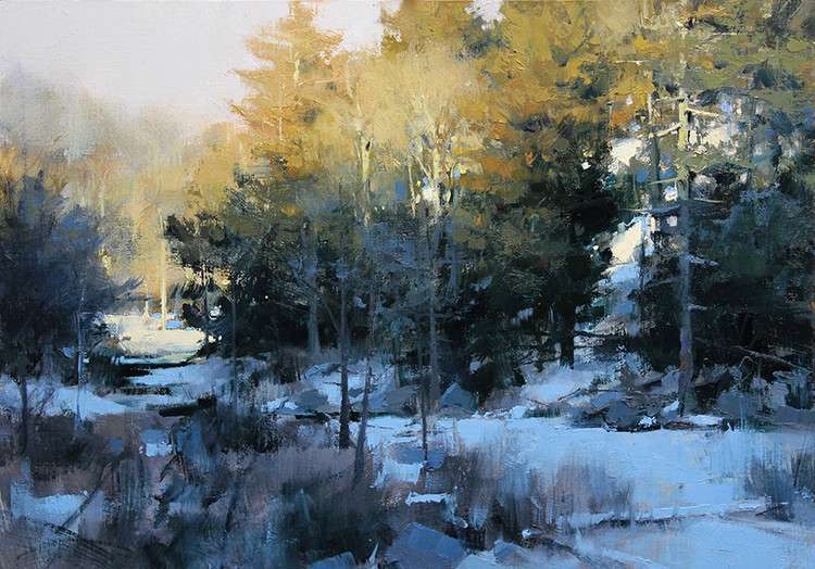 美国艺术家 - 马克.boedges油画风景