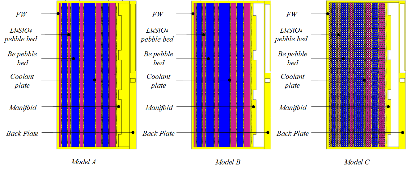 Neutronics models of solid breeder blanket.