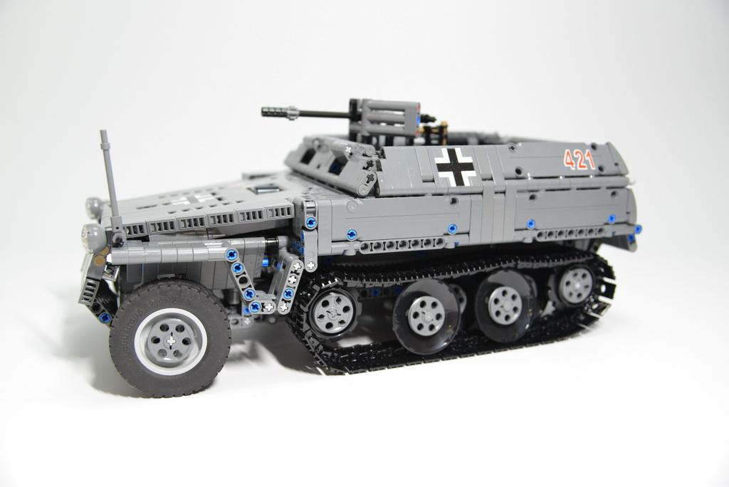 Moc Sdkfz2503 Light Armoured Halftrack Lego Technic And Model