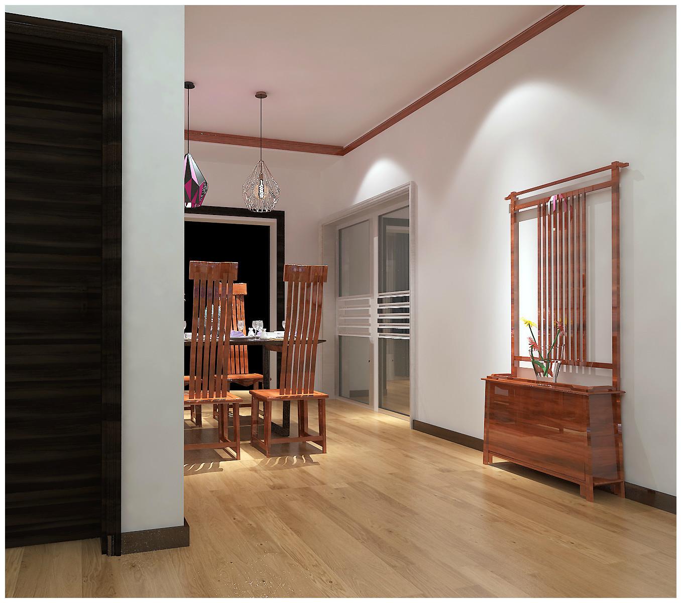 餐廳效果-新中式風格效果-創業家園裝修-石家莊實創裝飾