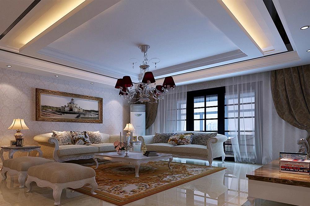 鄭州正商城三室兩廳129.88平簡歐裝修設計!