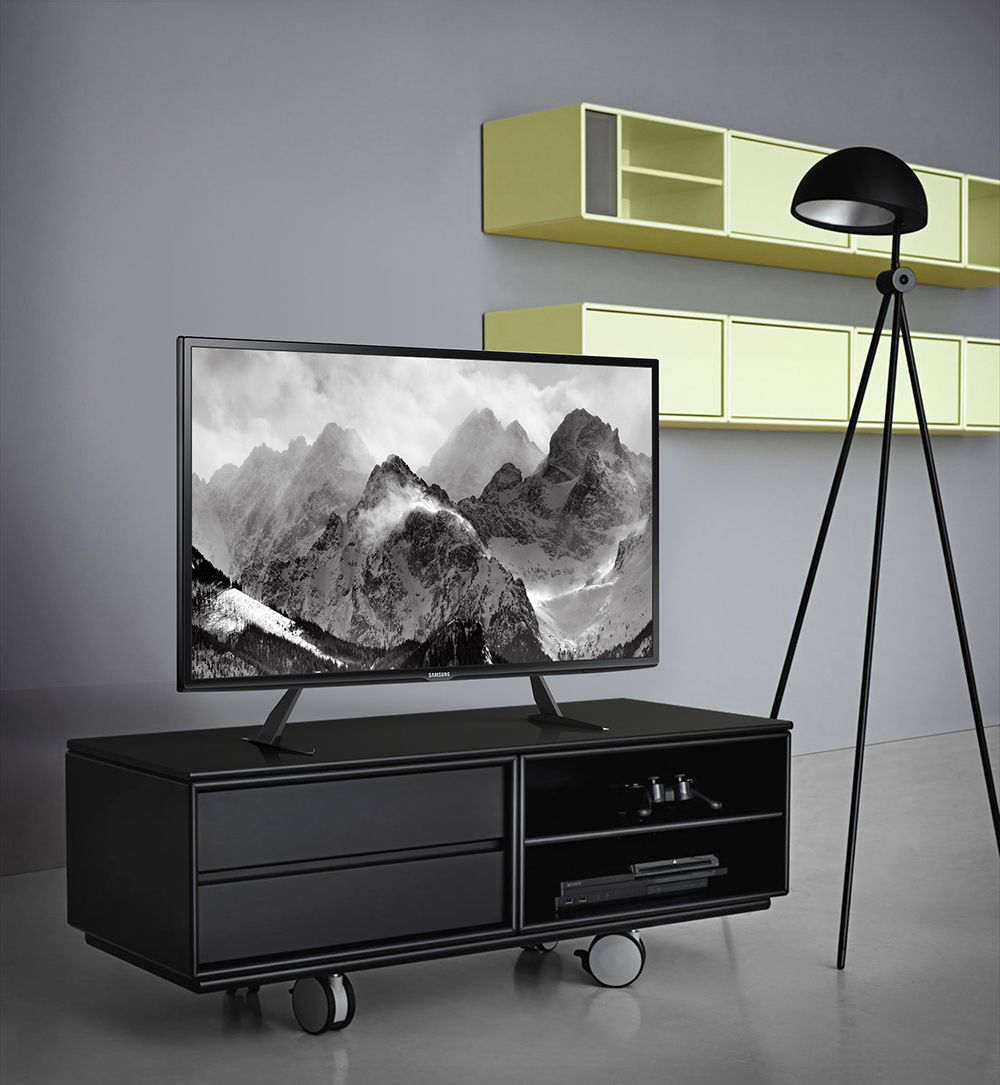 fitueyes table top tv stand base screen riser for 32 55. Black Bedroom Furniture Sets. Home Design Ideas