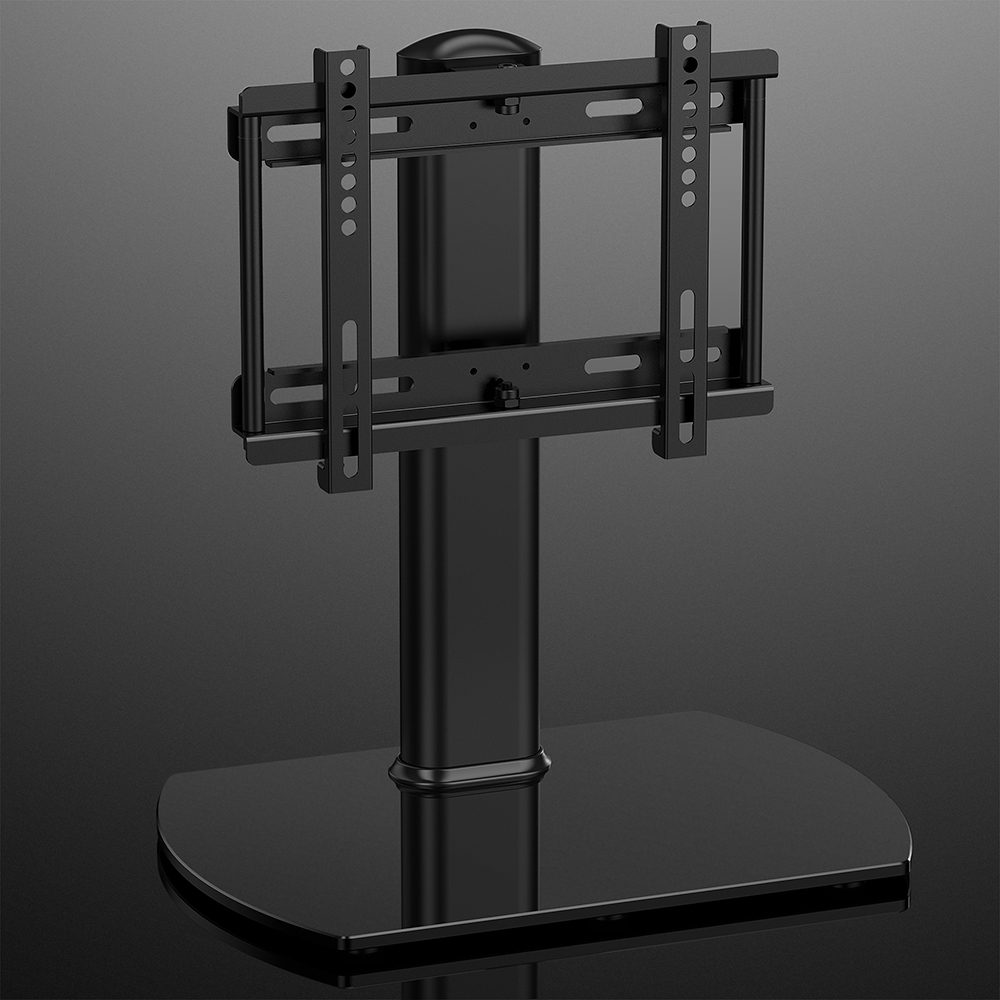 fitueyes universal tv stand with swivel wall mount for lcd bracket pedestal base ebay. Black Bedroom Furniture Sets. Home Design Ideas