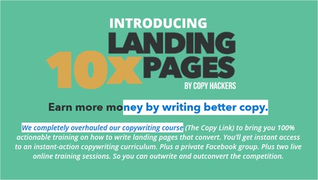 Copy Hackers – 10x Landing Pages[复制黑客-10个登陆页]