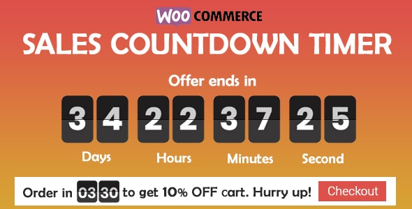 wordpress插件-Sales Countdown Timer for WooCommerce and WordPress 1.0.1.3