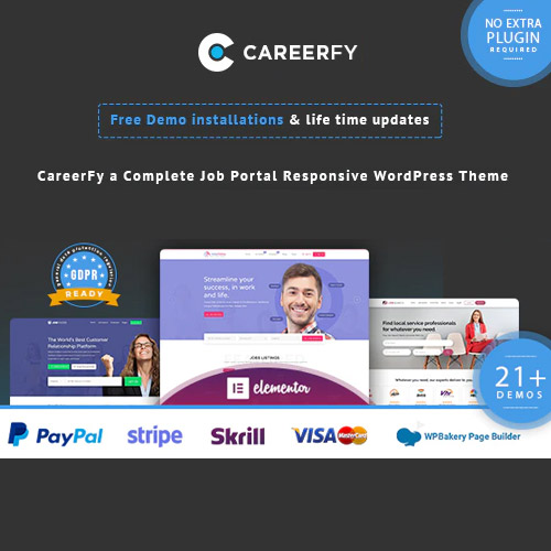 wordpress主题-Careerfy – Job Board WordPress Theme 6.0.0
