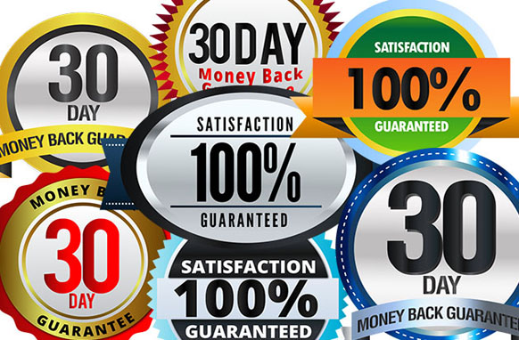 Money Back Guaranteed AI PSD PNG Badges