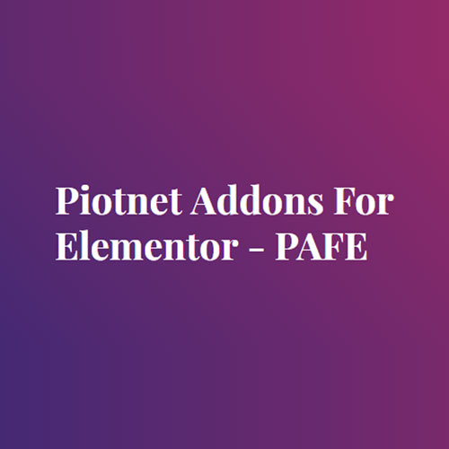 wordpress插件-Piotnet Addons For Elementor Pro 6.3.57