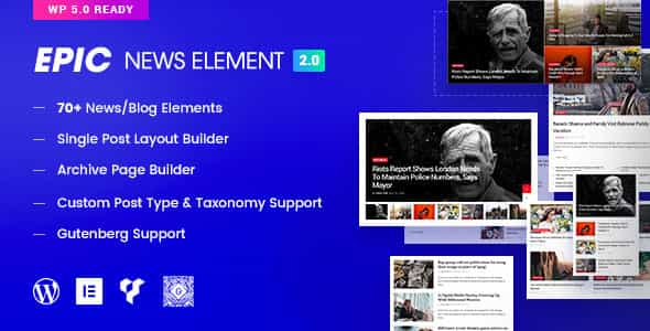 wordpress插件-Epic News Elements 2.3.1
