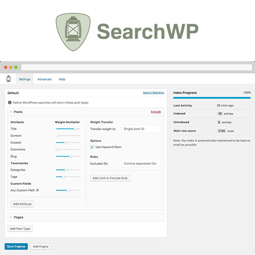 wordpress插件-SearchWP WordPress Plugin 4.1.16