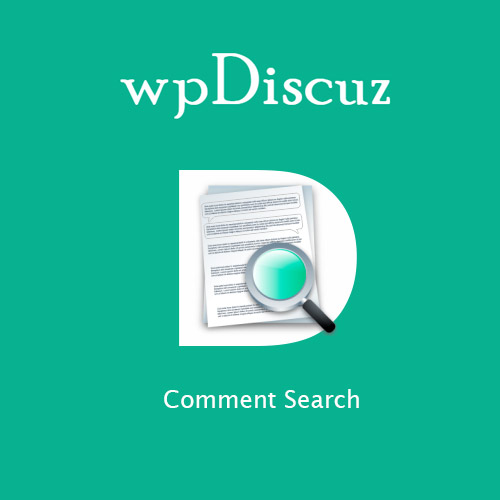 wordpress插件-wpDiscuz – Comment Search 7.0.4