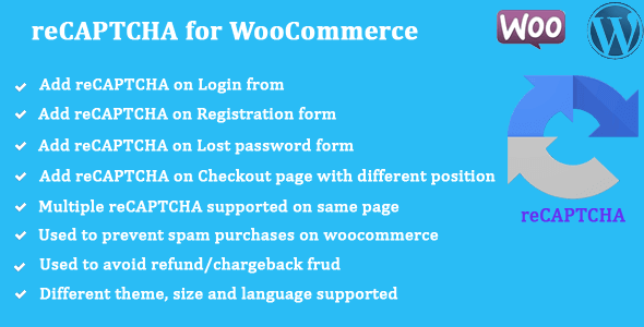 wordpress插件-reCaptcha for WooCommerce 2.14