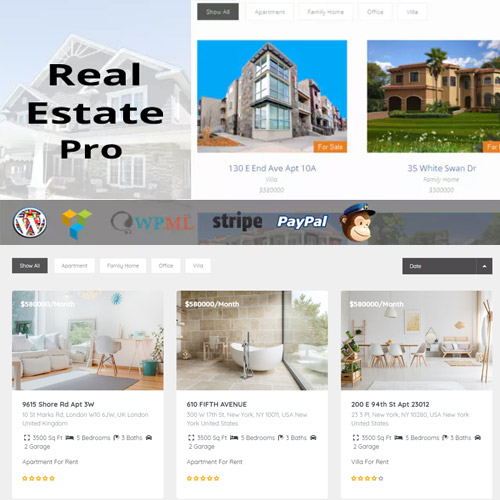 wordpress插件-Real Estate Pro – WordPress Plugin 1.9.4