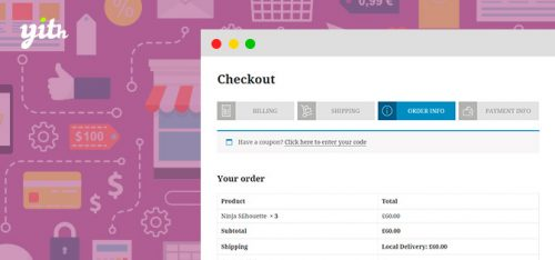 wordpress插件-YITH WooCommerce Multi-step Checkout Premium 2.0.3