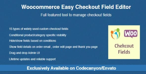 wordpress插件-Woocommerce Easy Checkout Field Editor 2.1.3