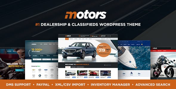 wordpress主题-Motors Theme 4.9.9