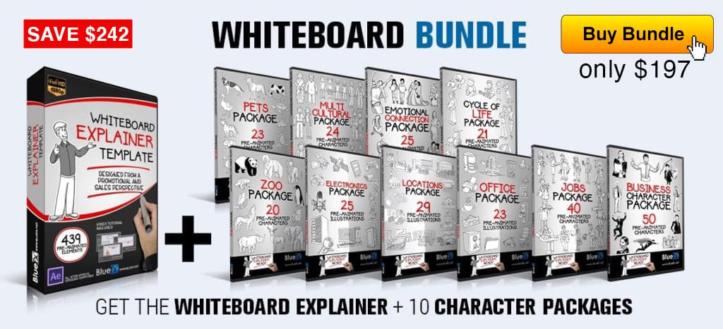 The Whiteboard Explainer Bundle白板解释器