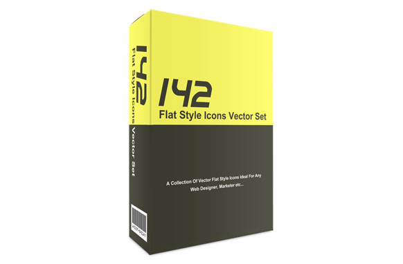 142 Flat Style Icons Vector Set