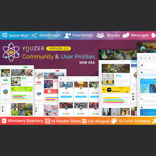 wordpress插件-Youzer – Community & User Profiles Management 3.1.0