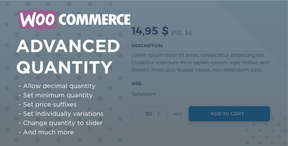 wordpress插件-WooCommerce Advanced Quantity 3.0.2