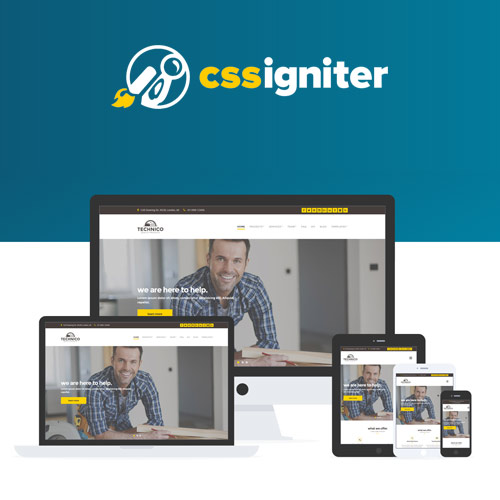 wordpress主题-CSS Igniter Technico WordPress Theme 2.1.2
