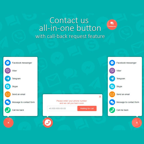 wordpress插件-Contact us all-in-one button with callback request feature for WordPress 2.0.3