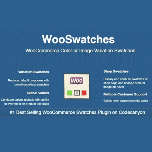 wordpress插件-WooSwatches – Woocommerce Color or Image Variation Swatches 3.1.5
