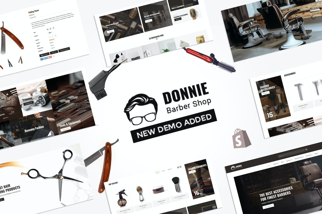 Donnie-沙龙,理发店Shopify主题