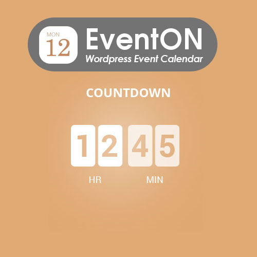 wordpress插件-EventOn Event Countdown 0.14