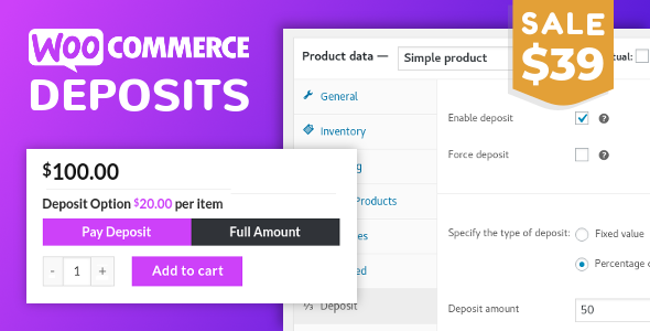 wordpress插件-WooCommerce Deposits 3.1.0