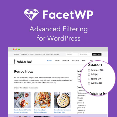 wordpress插件-FacetWP – Advanced Filtering for WordPress 3.8.2