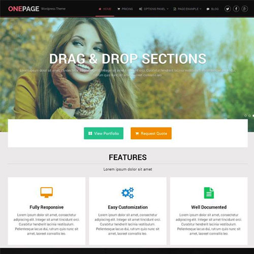 wordpress主题-MyThemeShop OnePage WordPress Theme 1.2.7