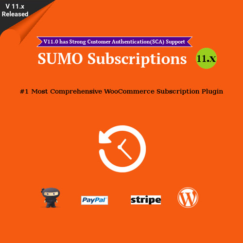 wordpress插件-SUMO Subscriptions – WooCommerce Subscription System 12.5