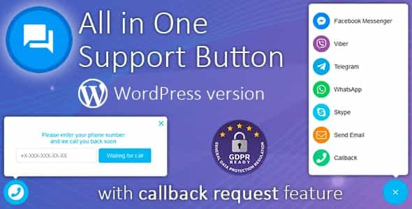 wordpress插件-All in One Support Button 1.9.9 [简体汉化版]