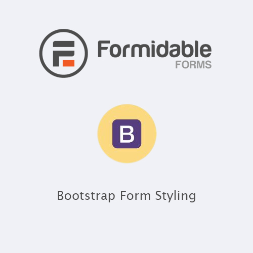 wordpress插件-Formidable Forms – Bootstrap Form Styling 1.0.3