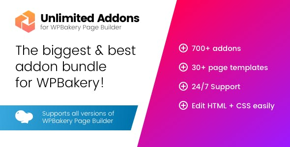 wordpress插件-Unlimited Addons for WPBakery Page Builder 1.0.42