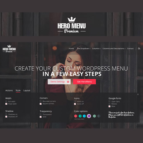 wordpress插件-Hero Menu – Responsive WordPress Mega Menu Plugin 1.15.3