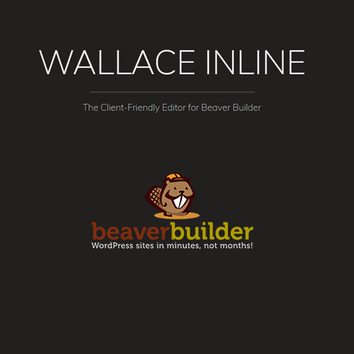 wordpress插件-Wallace Inline – Front-end Content Editor for Beaver Builder 2.3.0