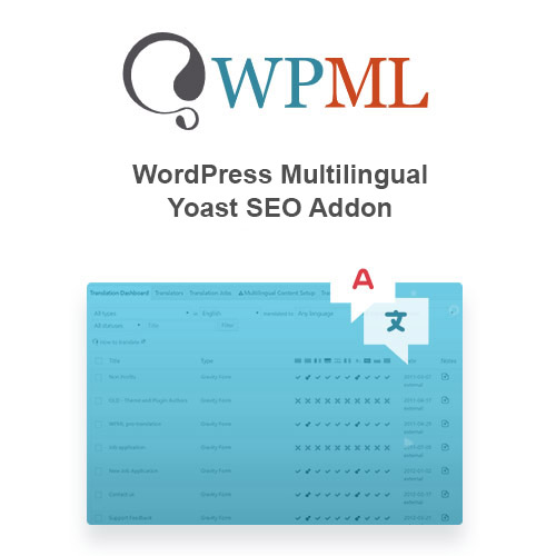 wordpress插件-WordPress Multilingual Yoast SEO Addon 1.3.0