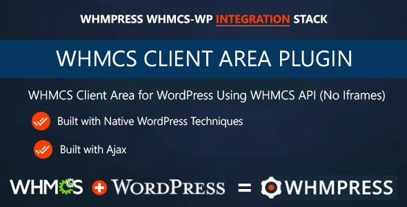 wordpress插件-WHMCS Client Area for WordPress 3.8 Revision 7