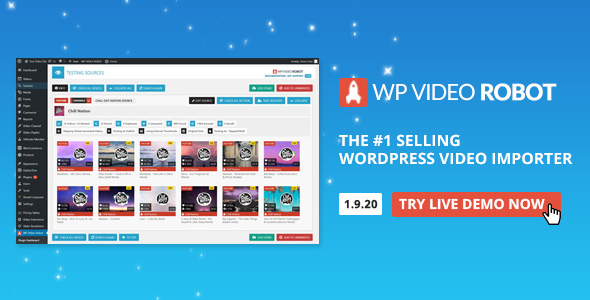wordpress插件-WordPress Video Robot 1.12.1