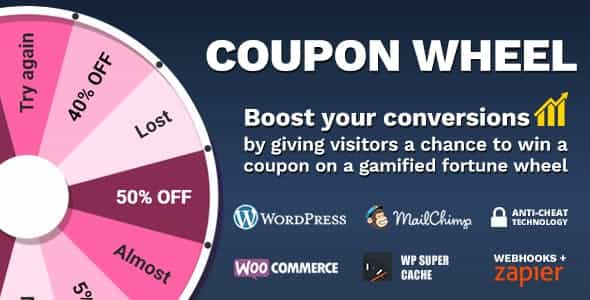 Awordpress插件-Coupon Wheel for WooCommerce 3.4.3
