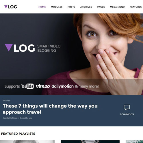 wordpress主题-Vlog – Video Blog / Magazine WordPress Theme 2.3.2
