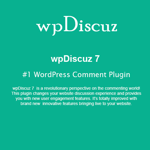 wordpress插件-wpDiscuz – #1 WordPress Comment Plugin 7.1.5